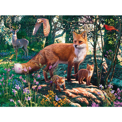 The Woodlands 550 Piece Glow-In-The-Dark Jigsaw Puzzle