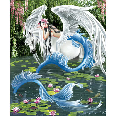 Mermaid and Pegasus 1000 Piece Jigsaw Puzzle