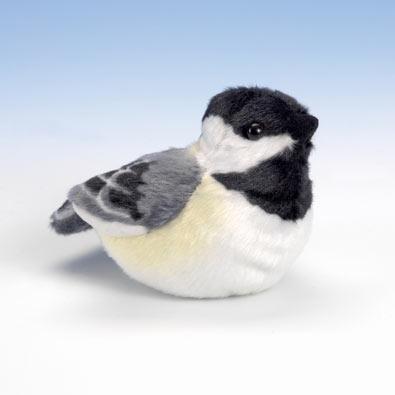 Singing Plush Song Bird - Chickadee