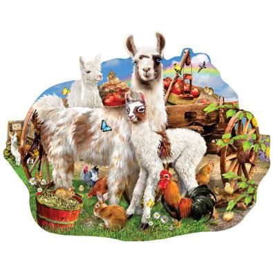 Llama Farm 1000 Piece Shaped Jigsaw Puzzle