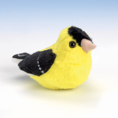 Singing Plush Song Bird - Goldfinch
