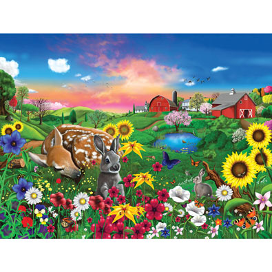 Peaceful Pastures 300 Large Piece Jigsaw Puzzle