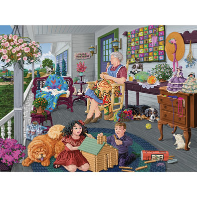 Visiting Grandma 300 Large Piece Jigsaw Puzzle