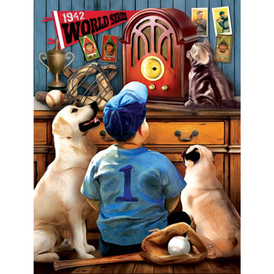 Listening to the Game 300 Large Piece Jigsaw Puzzle