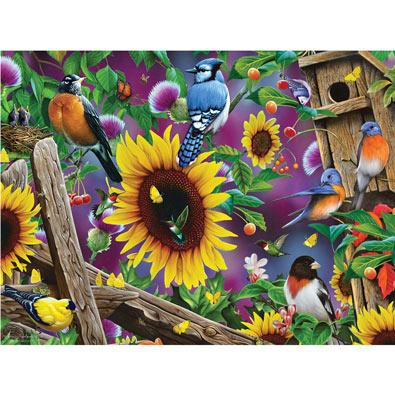 Fenceline Birds 500 Piece Jigsaw Puzzle
