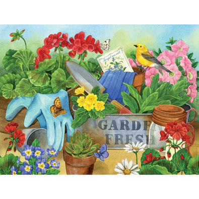 Gardener's Table 500 Piece Jigsaw Puzzle