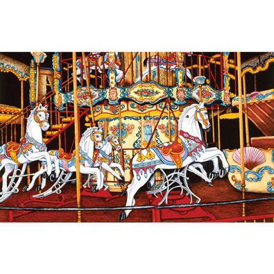 Carousel at the Fair 550 Piece Jigsaw Puzzle