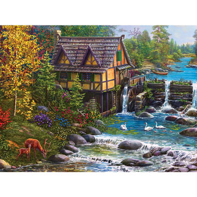 Mill by the Stream 1000 Piece Jigsaw Puzzle
