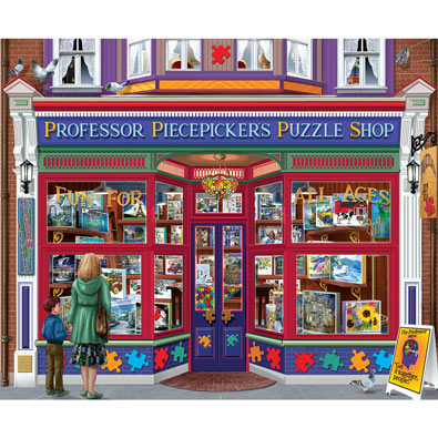 Professor Piecepicker's Puzzle Shop 1000 Piece Jigsaw Puzzle