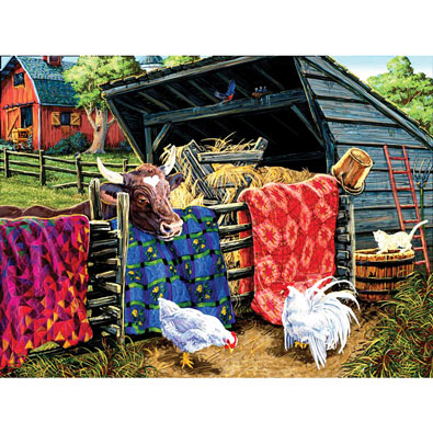 Quilt Cow 300 Large Piece Jigsaw Puzzle