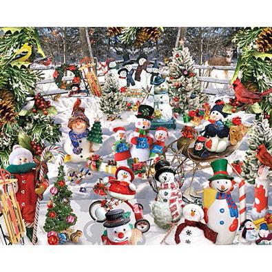 Snowmen 1000 Piece Collage Jigsaw Puzzle