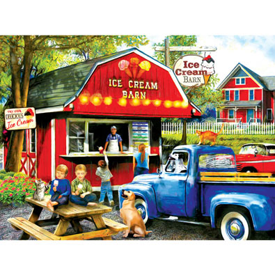 Ice Cream Barn 1000 Piece Jigsaw Puzzle