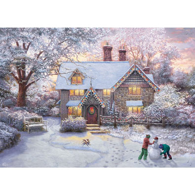 Christmas at Gingerbread Cottage 1000 Piece Jigsaw Puzzle