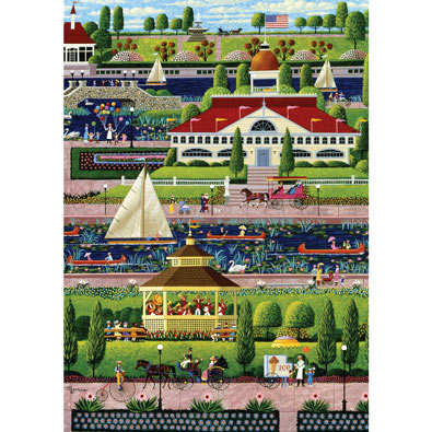 Sunday in the Park 300 Large Piece Jigsaw Puzzle