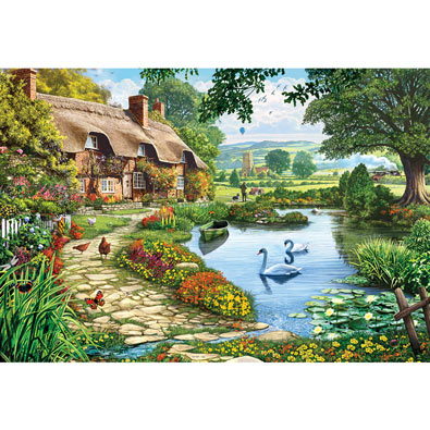 Cottage by the Lake 1000 Piece Jigsaw Puzzle