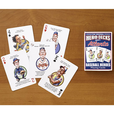 Braves - Baseball Heroes Playing Cards