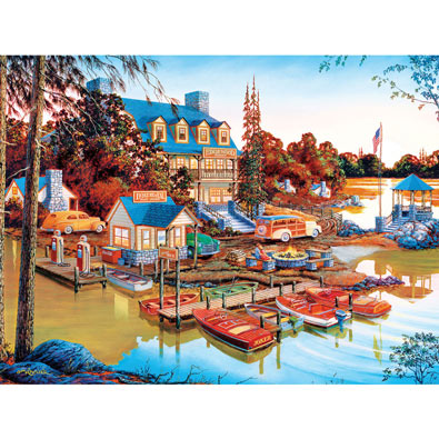 Peaceful, Easy Evening 550 Piece Jigsaw Puzzle