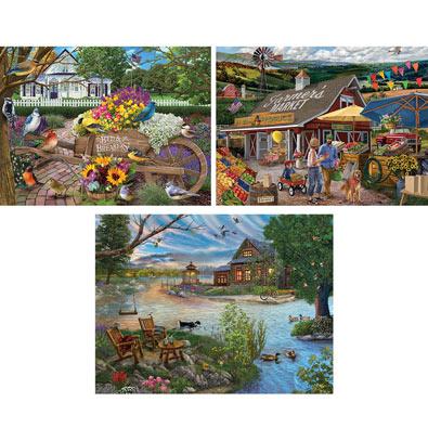 Set of 3: Chris Bigelow 550 Piece Jigsaw Puzzles