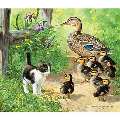 Duck Inspector 200 Large Piece Jigsaw Puzzle