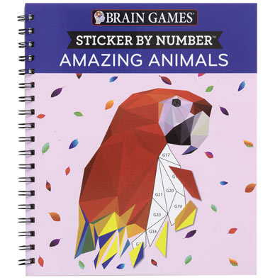 Sticker by Number Book - Amazing Animals