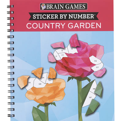 Sticker by Number Book - Country Garden
