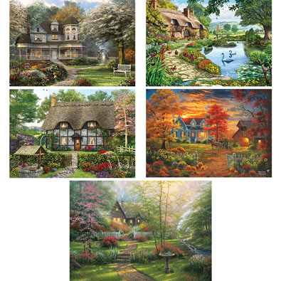 Set of 5: Serenity 1000 Piece Jigsaw Puzzles