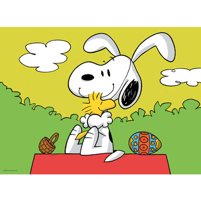 Easter Beagle 100 Large Piece Jigsaw Puzzle