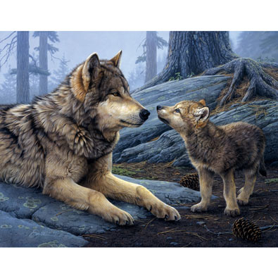 Brother Wolf 500 Piece Jigsaw Puzzle