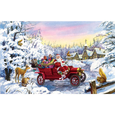 Thoroughly Modern Santa 550 Piece Jigsaw Puzzle