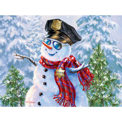 Snowman Police 300 Large Piece Jigsaw Puzzle
