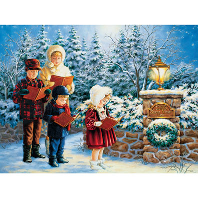 Chorus of Carolers 550 Piece Jigsaw Puzzle