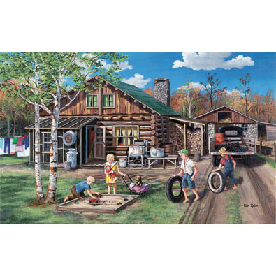 Carefree Days 550 Piece Jigsaw Puzzle