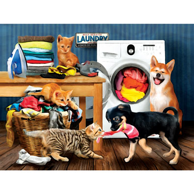 Laundry Room Laughs 300 Large Piece Jigsaw Puzzle