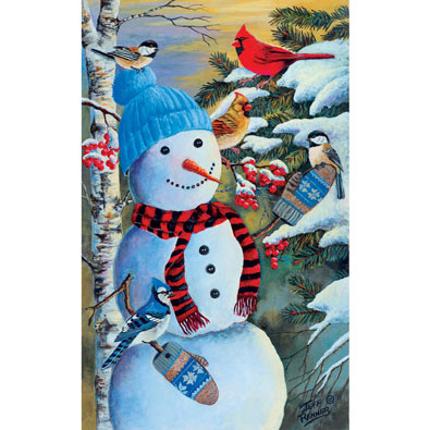 Snowman's Party 550 Piece Jigsaw Puzzle