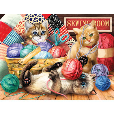 Kitties Fun Time 500 Piece Jigsaw Puzzle