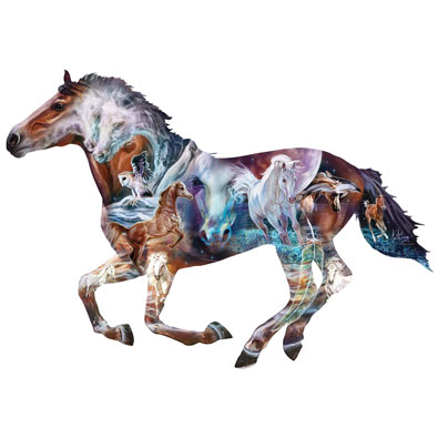 Mystery of the Horse 800 Piece Shaped Jigsaw Puzzle