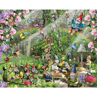 Gnomes Playground 300 Large Piece Jigsaw Puzzle
