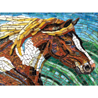 Stained Glass Horse 1000 Piece Jigsaw Puzzle