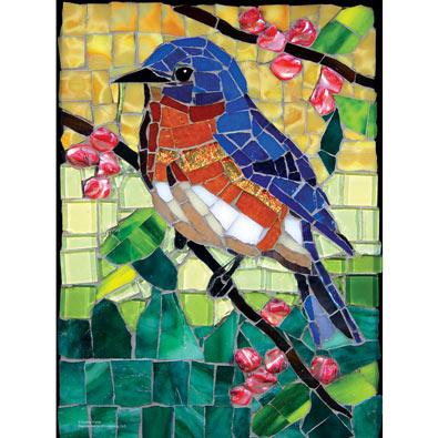 Stained Glass Bluebird 1000 Piece Jigsaw Puzzle