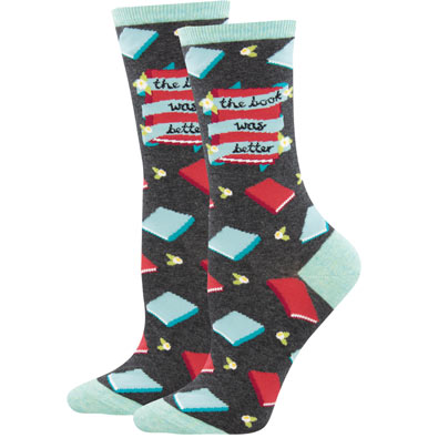The Book Was Better Book Socks