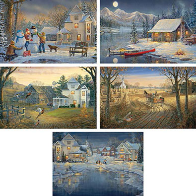 Set of 5: Sam Timm 1000 Piece Jigsaw Puzzles