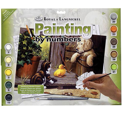 Three Buddies - Painted by Numbers Kit