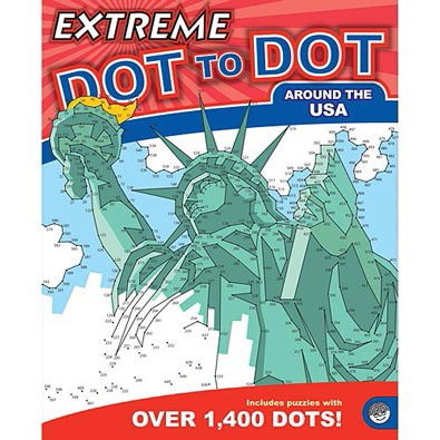 Around the USA-Extreme Dot to Dot Book