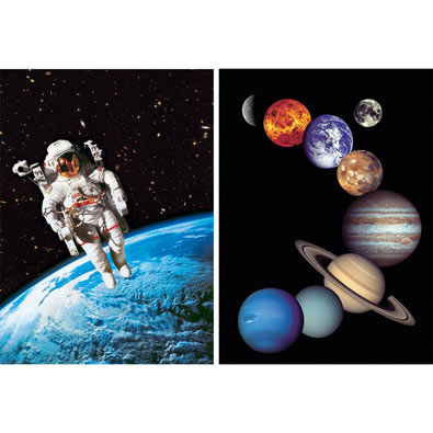 Set of 2: Space 1000 Piece Jigsaw Puzzles