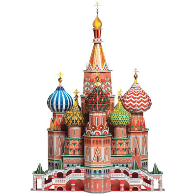St. Basil's Cathedral 120 Piece 3-D Puzzle