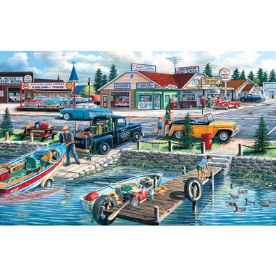 Lakefront Treasury 300 Large Piece Jigsaw Puzzle
