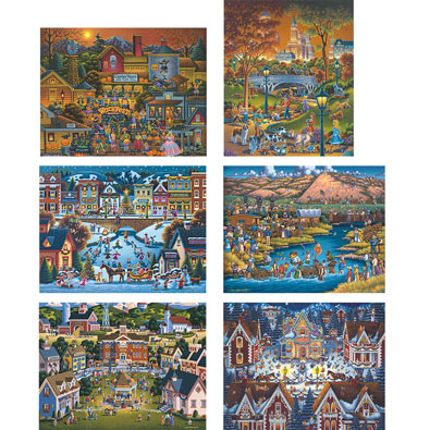 Set of 6: Eric Dowdle 500 Piece Jigsaw Puzzles