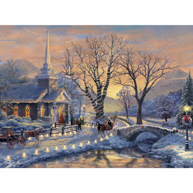 Holiday Evening Sleigh Ride 1000 Piece Jigsaw Puzzle