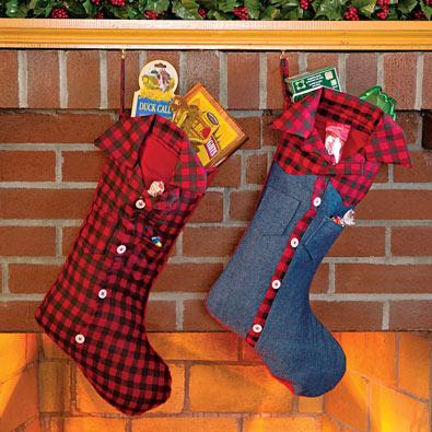 Redneck Christmas Stockings - Denim