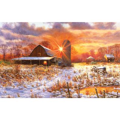 Snow Barn 550 Piece Jigsaw Puzzle